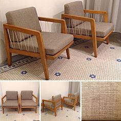 Pair of #Vintage #MidCenturyModern #Drexel #Precedent #LoungeChairs by #EdwardWormley . Info @ link below.    Rocket Century  - St. Louis, MO