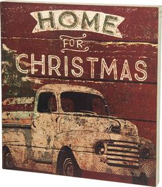 Item # 28774 | Box Sign - Home For Christmas | Primitives by Kathy