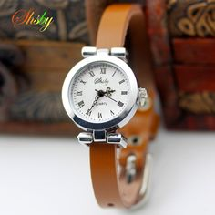 shsby New fashion hot-selling Genuine leather female silver watch ROMA vintage watch women dress watches
