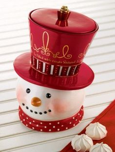 ✴Buon Natale e Felice Anno Nuovo✴Merry Christmas and Happy New Year✴ Christmas Cookie Jars, Holiday Cookies, Christmas Candy, Christmas Snowman, Rustic Christmas, White Christmas, Christmas Holidays, Merry Christmas, Vintage Christmas