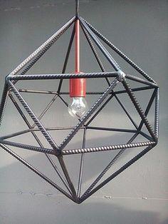 Super Ideas For Modern Lighting Bulb Metal Projects, Welding Projects, Metal Crafts, Rustic Lighting, Modern Lighting, Luminaria Diy, Industrial Design Furniture, Industrial Table, Steel Furniture
