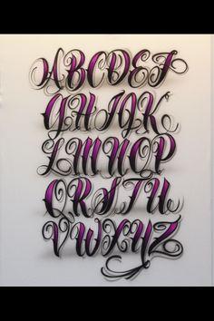 Airbrush Lettering Font - Fancy Script Caps