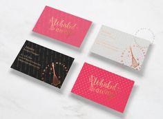 Whisked Away designed by One Giraphe. Business Card Design, Business Cards, Brand Identity, Branding, Black White Gold, Gold Logo, Logo Design, Logos, Pattern