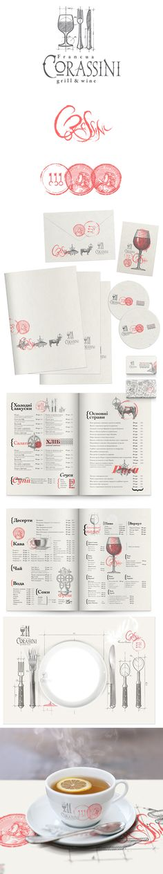 identity / Corassini restaurant | #stationary #corporate #design #corporatedesign #identity #branding #marketing < repinned by www.BlickeDeeler.de | Take a look at www.LogoGestaltung-Hamburg.de..