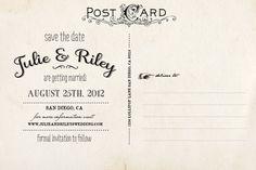 Vintage Save the Date Postcard  the Julie by NostalgicImprints, $38.00