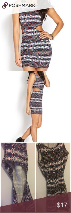 Tribal Cut Out Mini Dress Tribal Print Mini Cutout Dress. Stretchy. Medium. Fits True To Size. Great For A Night Out. Forever 21 Dresses Mini