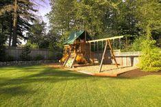 50 Modern Backyard Playground Ideas For Kids, - Modern Design Large Backyard Landscaping, Backyard Layout, Modern Backyard, Backyard For Kids, Backyard Ideas, Landscaping Ideas, Mulch Landscaping, Garden Ideas, Nice Backyard