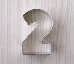 Number 2 Cookie Cutter on Etsy, $2.50