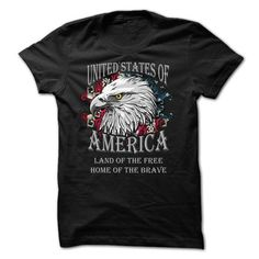 USA Land of the Free Home of the Brave T-Shirts, Hoodies, Sweatshirts, Tee Shirts (19.5$ ==> Shopping Now!)