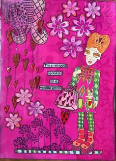 Linda Wakeman Krisjanis - inspiration for the Dylusions June Facebook Challenge.