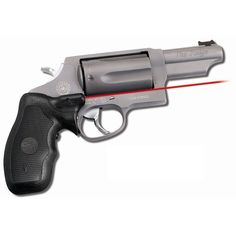 This Crimson Trace Lasergrip is designed specifically for Taurus Judge and Tracker revolvers. The grip's instinctive rubber overmold activation pressure pad activates the bright laser in self-defense and tactical situations. Concealed Carry Weapons, Taurus Judge, Shooting Equipment, Hunting Stores, Mens Toys, Custom Guns, Guns And Ammo, Self Defense, Fitness Tracker