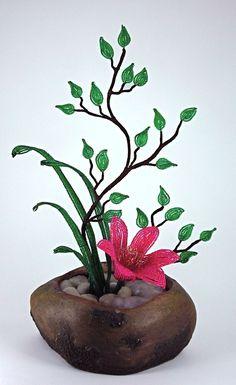 Ikebana Beaded Flower Arrangement by `Lady-Blue on deviantART