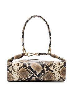 0378cee077 Rejina Pyo Neutral Olivia Snakeskin Embossed Leather Box Bag - Farfetch