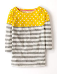 colourblock breton - grey marl/daffodil