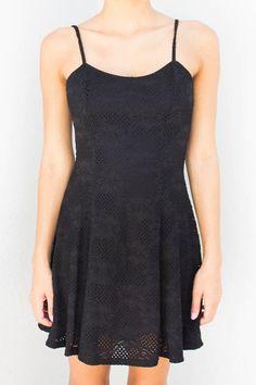 CASSIE BLACK LACE FLARE DRESS