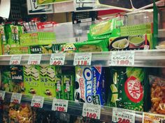 Matcha-flavored (green tea) snacks are so popular these days!   If you are going to visit Tokyo/Japan and you want to take home cheaper Japanese noms, we recommend Okashino Machioka (おかしのまちおか) shops because most of the time, they have lots of items on sale! (Yay hoarding time)   www.japanlover.me