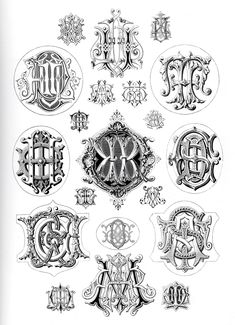 love old vintage monograms and typograpy...