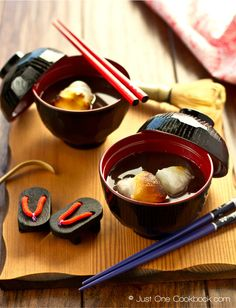 Zenzai | Oshiruko (Sweet Red Bean Soup) ぜんざい | Easy Japanese Recipes at JustOneCookbook.com