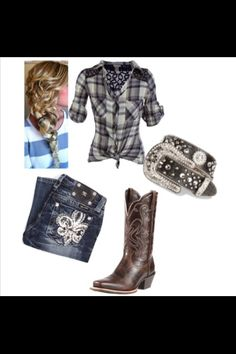 Thought this was cute.  I own those boots but they have turquoise stitching!