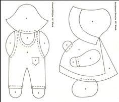 Print Sunbonnet Sue Quilt Pattern | sunbonnet sue and overall sam