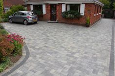 Paul Holbrook | Welcome to Paul Holbrook Paving. Block Paving, Patterned Concrete, Driveways, Patios and Paths Front Garden Ideas Driveway, Modern Driveway, Driveway Landscaping, Block Paving Driveway, Brick Driveway, Driveway Design, Concrete Patios, Garden Paving, Garden Paths