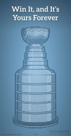 A graphic of the Stanley Cup, formed by every name ever on it.