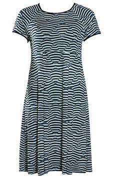 Skøn stribet Godske jersey kjole