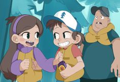 Gravity Falls this is an actually part of a show turned anime, oober cool