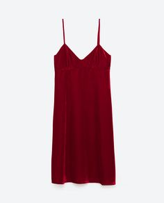 VELVET DRESS - DRESSES-WOMAN | ZARA Poland