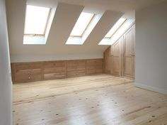 Like the idea of having built-in drawer storage under the eaves
