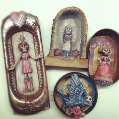 Day of the Dead Assemblages by Clarissa Callesen  www.clarissacalle...
