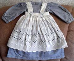Puppenkleid-hellblau