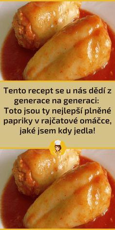Czech Recipes, Food And Drink, Chicken, Meat, Red Peppers, Cubs