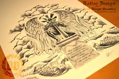 Guardian Angel Tattoo Design - Dark Design Graphics   Graphic Design Newcastle