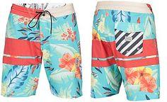Volcom Men's 3 Quarta Stripe Floral-Print Boardshorts