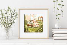 Cute Cow Art Print/ Art Print for Kids/ Kids room Decor/ Nursery room Decor/ cute illustration/ Gicleé Print/ Funny Art Print Kids Prints, Fine Art Prints, Oil Pastel Paintings, Kids Room Paint, Kids Poems, Cute Cows, Cow Art, Fairytale Art, Nursery Room Decor