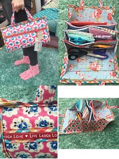 extra large bionic gear bag hybrid in cath kidston floral oilcloth. by LovelyLauraAshley on Etsy https://www.etsy.com/listing/266070058/extra-large-bionic-gear-bag-hybrid-in