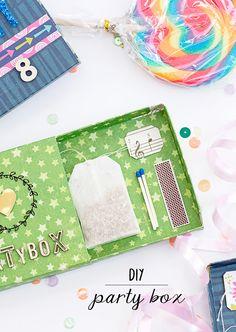 mojosanti ♥ Sandra Dietrich: DIY Partybox für eine Teebeutelrakete | Make your own party game box