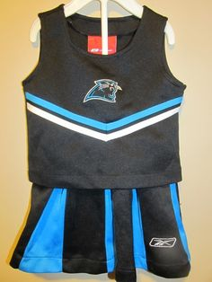 56aeac48e59 Reebok Carolina Panthers 2 pc. Cheerleader Outfit , Toddler 2T