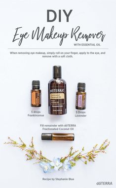 Try this easy and all-natural DIY eye makeup remover recipe! It features doTERRA… Try this easy and all-natural DIY eye makeup remover recipe! It features doTERRA Frankincense and Lavender essential oils! Eye Make-up Remover, Make Up Remover, Essential Oils For Skin, Essential Oil Blends, Cypress Essential Oil, Essential Oil Spray, Doterra Frankincense, Doterra Recipes, Doterra Essential Oils