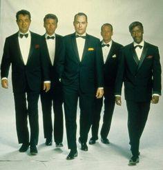 """Rat Pack"" (HBO TV MOVIE), August 22, 1998,  Directed by: Rob Cohen. Joe Mantegna (Dean Martin), Angus MacFadyen (Peter Lawford), Ray Liotta (Frank Sinatra), Bobby Slayton (Joey Bishop), Don Cheadle (Sammy Davis Jr.)."