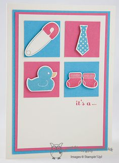 2014 SS Something For Baby Clear-Mount Bundle136791, A Dozen Thoughts131059,  Baby 'Gender Reveal' Card - Girl or Boy?
