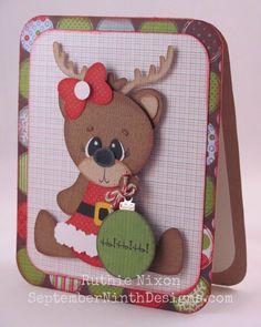 paper piecing girl reindeer - bjl