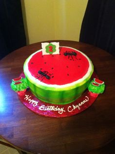 Watermelon party cake
