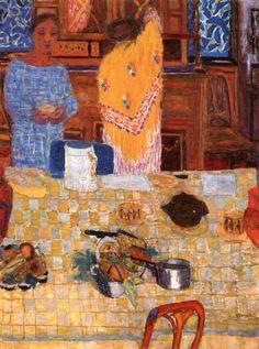 """The Yellow Shawl"" : Pierre Bonnard (French,1867-1947) c.1925"