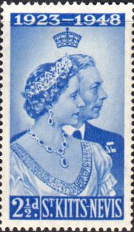 1948 St Kitts Nevis King George VI Silver Wedding SG 80 Fine Mint Scott 93 Other West Indies and British Commonwealth Stamps HERE!
