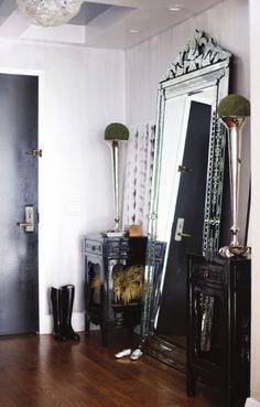 oversized Venetian mirror
