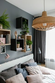 w tym pokoju dbamy o siebie - metamorfoza sypialni - mrspolkadot Bedding Sets, Master Bedroom, Sweet Home, New Homes, Room Decor, House Design, Indoor, Interior Design, Interiors