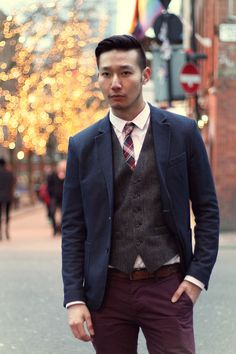 Chino example no. 2 easy to dress up or down, and colors are easily manageable.