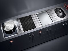 Gaggenau vario cooktops 400 series Love it my new kitchen ! Kitchen Hob, New Kitchen, Kitchen Equipment, Kitchen Interior, Kitchen Design, Kitchen Accessories, Cool Kitchens, New Homes, Kitchen Appliances